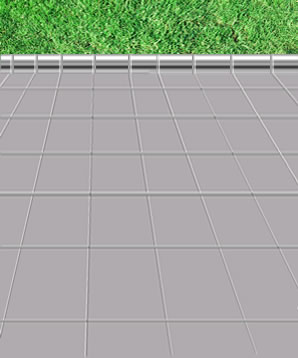lightweight paving slab patio